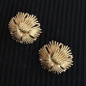 Gold Monet Clip earrings